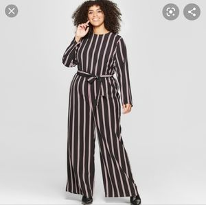 Who what wear striped jumpsuit small